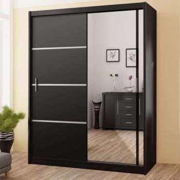 Sliding Door Wardrobe VISTA 203 Black