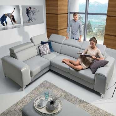 Corner Sofa Bed GIFU Left Faux Leather
