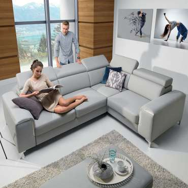 Corner Sofa Bed GIFU Right Faux Leather