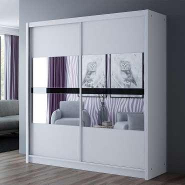 Wardrobe BATUMI 203 White+Mirror
