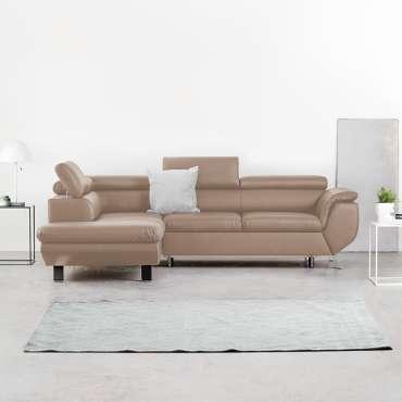 Corner Sofa Bed PHOENIX Left Beige Special Offer