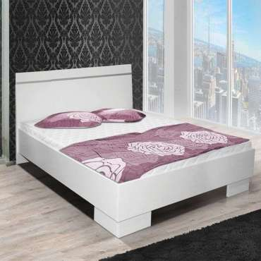 King Size Bed VISTA White 150
