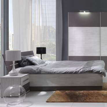 Queen Size Bed DIONE D04 Norwegian Pine / Ash