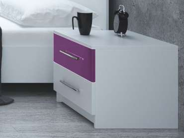 Bedside Table DUBAJ Purple