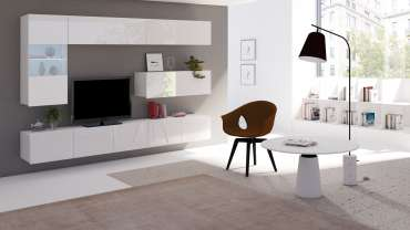 Living Room Furniture Set COLAMBRINI 4 White Gloss