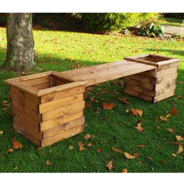 Square planter bench