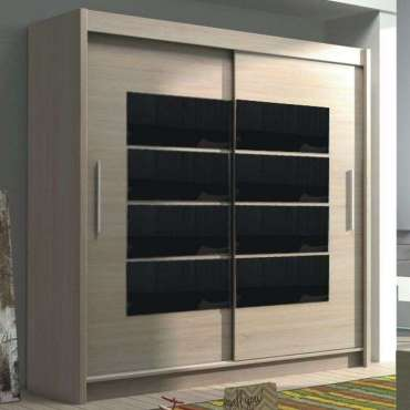 Wardrobe TORONTO Oak Sonoma + Black Gloss