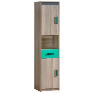 Cabinet ULTIMO U10-Dark Ash Coimbra / Green