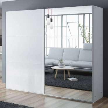 Wardrobe VIGO White+Mirror