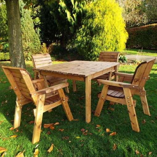 Four seat square garden set