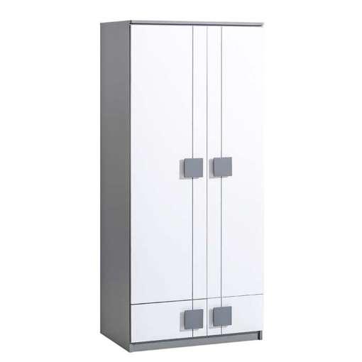 Wardrobe GUMI G1-Anthracite/White