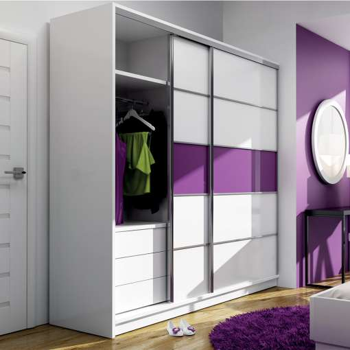 Wardrobe DUBAJ Purple