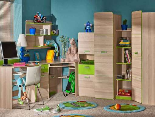 Childrens Room Furniture Set LORENTO 5 Green