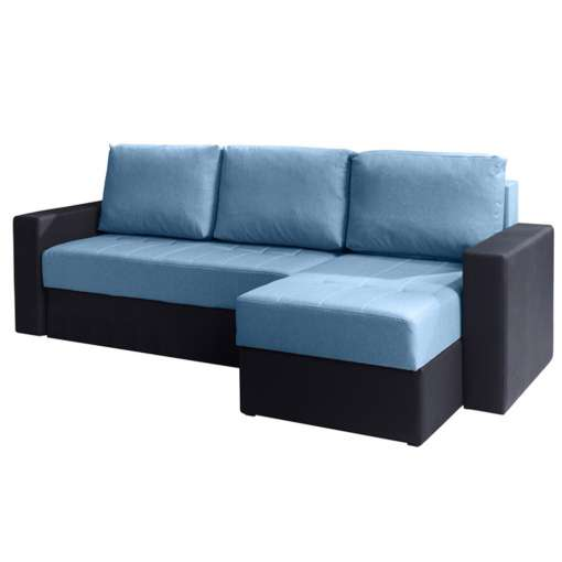 Corner Sofa Bed CALABRINI Blue