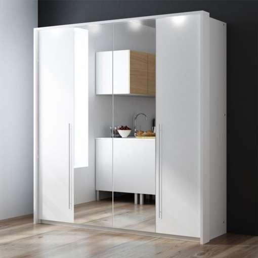 White and Mirror Wardrobe