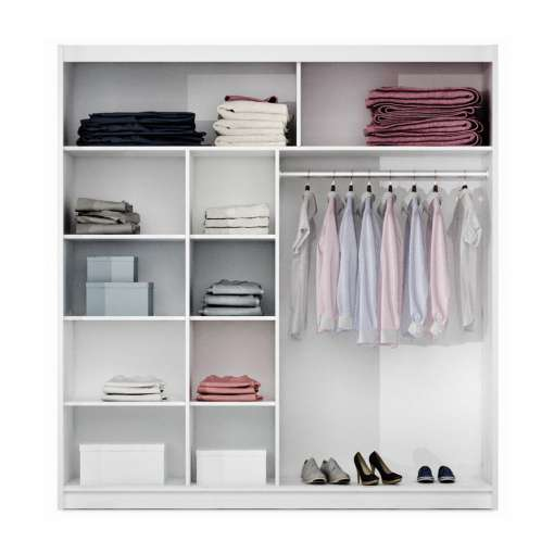 Wardrobe PRESTON 203 Grey Glass