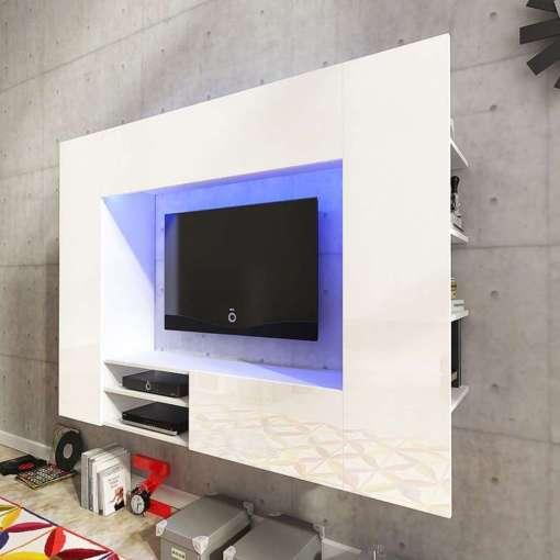 Net TV Wall Unit White