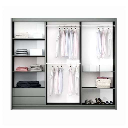 White and Mirror Wardrobe