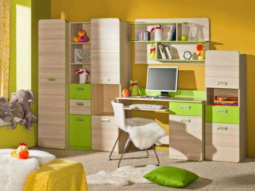 Children's / Youth Room Furniture Set LORENTO 2 Green