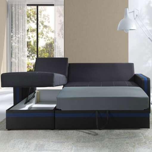 Corner Sofa Bed EUROSIA-Blue