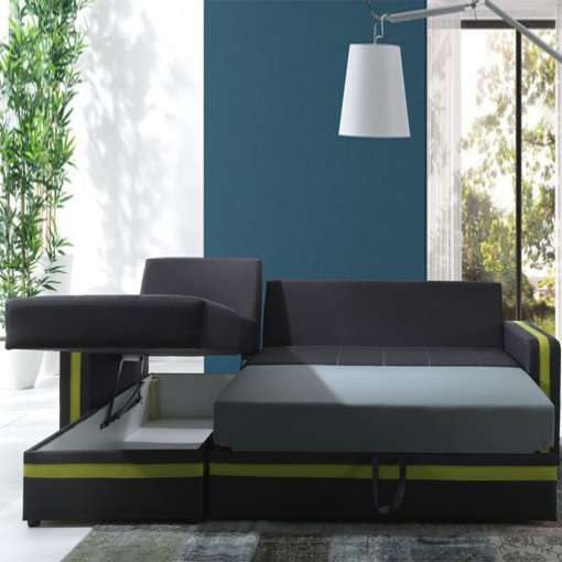 Corner Sofa Bed EUROSIA-Lime