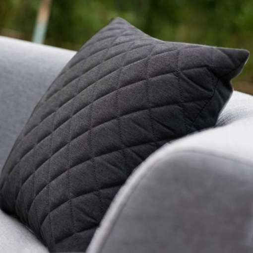 Scatter Cushion Quilted - Charcoal (Pack of 2)