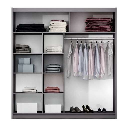 Wardrobe TURYN 203 Lava / Black Glass