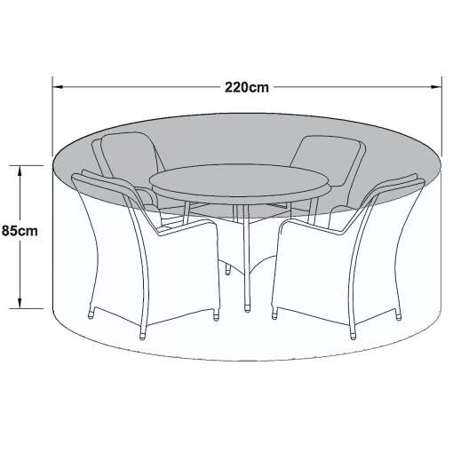 Outdoor Cover for 4 Seat Round Dining Set