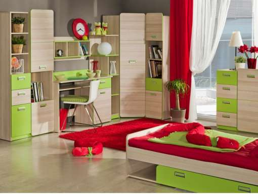 Children's Furniture Set LORENTO 1 Green