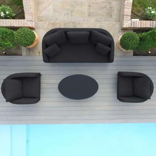 Ambition 3 Seat Sofa Set - Charcoal