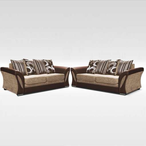 Sofa Set Shannon 2+3 Brown