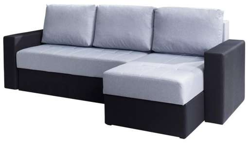 Corner Sofa Bed CALABRINI Grey