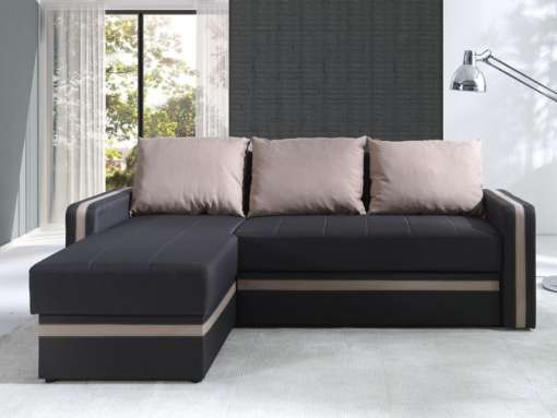 Corner Sofa Bed EUFORIA-Latte