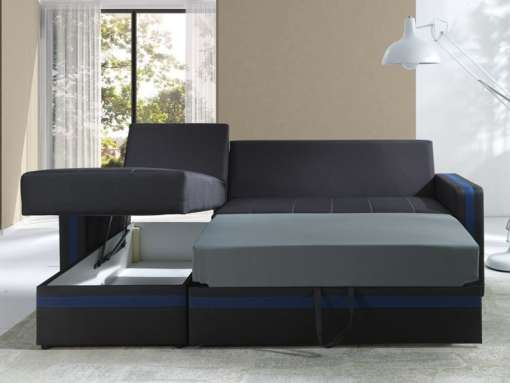 Corner Sofa Bed EUFORIA-Blue