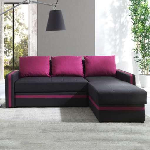 Corner Sofa Bed EUROSIA-Pink