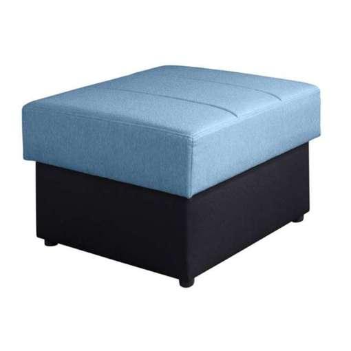 CALABRINI Footstool Blue