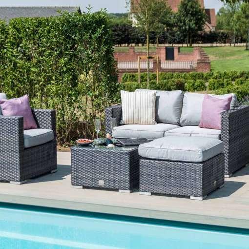 Georgia 2 Seat Sofa Set - With Ice Bucket - Grey