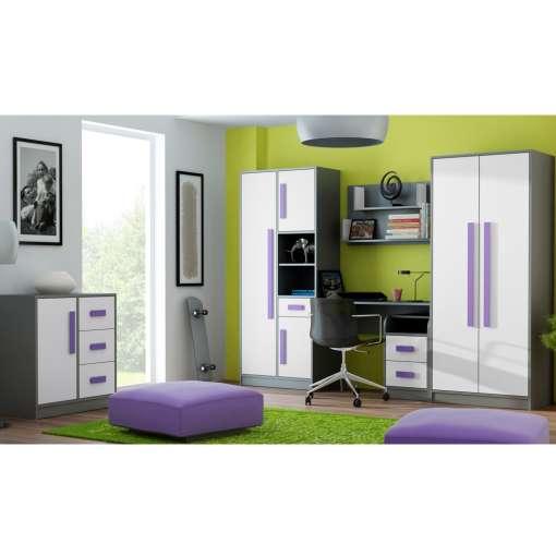 Youth / Kids Furniture Set GIT 1- White / Violet