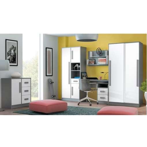 Youth / Kids Furniture Set GIT 3- White / Grey