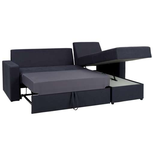 Corner Sofa Bed DOMINEZ-Graphite