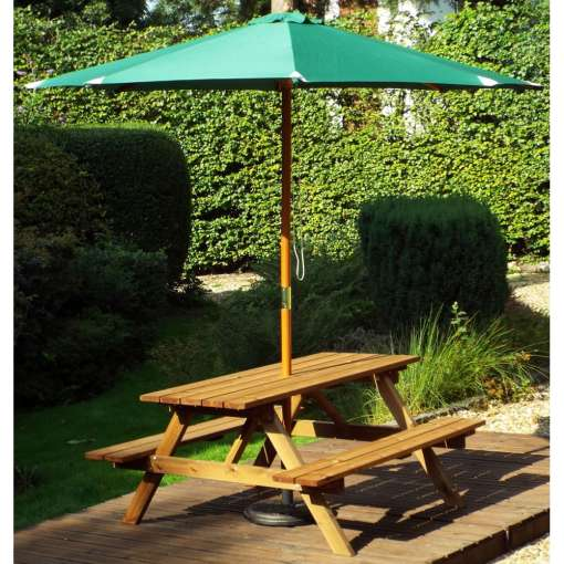 Six seater picnic table from gold series