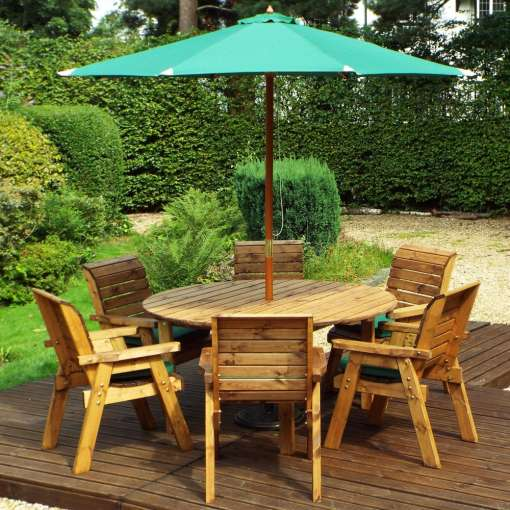 Six seater round table set