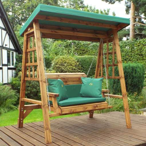 Dorset two seater swing green