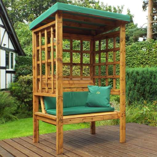 Bramham two seater arbour green