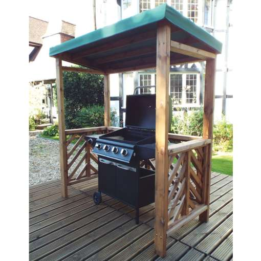 Dorchester BBQ shelter green
