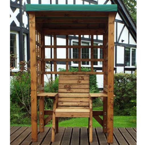 Wentworth one seater arbour green