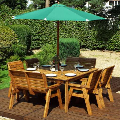 Eight seater deluxe garden table set