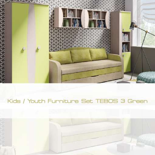 Kids / Youth Furniture Set TENUS 3 Green