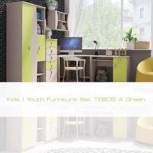 Kids / Youth Furniture Set TENUS 4 Green