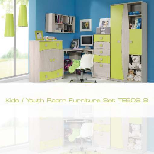 Kids / Youth Room Furniture Set TEBOS 8